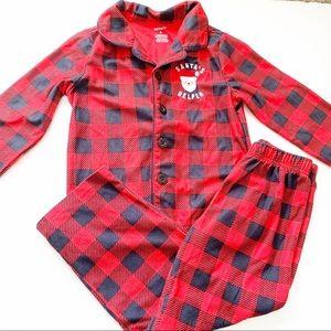 2 pc set Carter's Boys Holiday Santa PJ pajamas 6